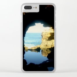 Inside looking Out to the Great Southern Ocean Clear iPhone Case