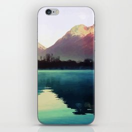 Mountains #watercolor iPhone Skin