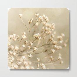Softer I Botanical Flora Nature Neutral Tan Cream  Metal Print