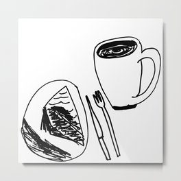 Pie & Coffee Metal Print