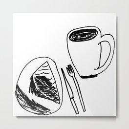 Pie & Coffee Metal Print