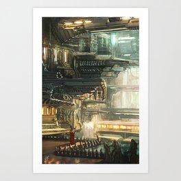 Underground Dystopia Art Print