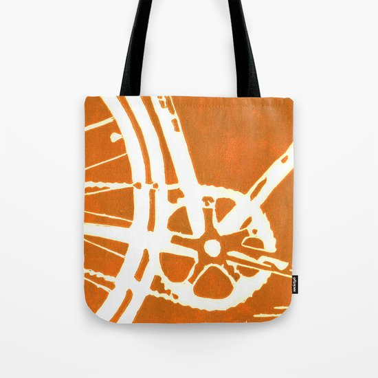 Orange Bike Tote Bag