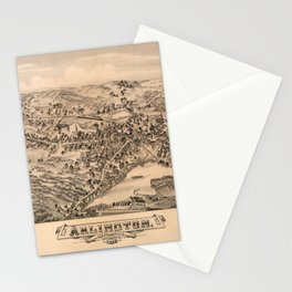 Aerial View of Arlington, Massachusetts (1884) Stationery Cards