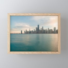 Tonight -Chicago Skyline Photography Framed Mini Art Print