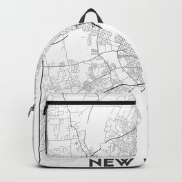 Minimal City Maps - Map Of New Haven, Connecticut, United States Backpack