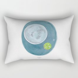 Watercolor Illustration of Haruki Murakami's novel 1Q84 Rectangular Pillow