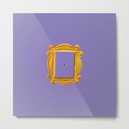 Friends Purple Yellow Door Frame Metal Print