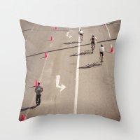 arrow Throw Pillows featuring Arrow by Sébastien BOUVIER