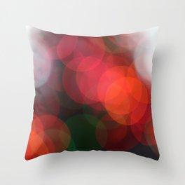 Christmas Lights Bokah  Throw Pillow
