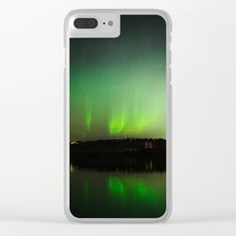 Northern Lights over Emerald Bay Clear iPhone Case