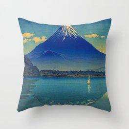 Tsuchiya Koitsu Lake Shoji Vintage Japanese Woodblock Print Throw Pillow