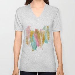 Gilded pastels Unisex V-Neck