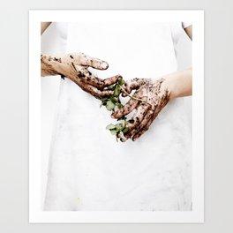 Gardening Hands Art Print