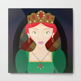 The Crimson Princess Metal Print