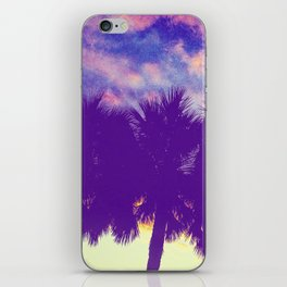 Purple Silhouette iPhone Skin