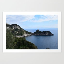 costa d'amalfi Art Print
