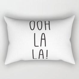French Prints, Oh La La, Typography Print, Girl Quotes, French Art, Digital Art, Wall Prints Rectangular Pillow
