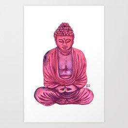 Pink Buda Art Print