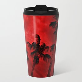 Red, Stormy Desert Sky Travel Mug