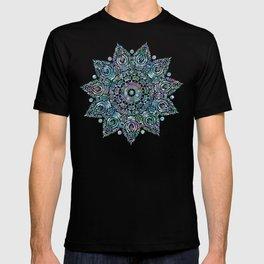 Mermaid Dreams Mandala on White T-shirt