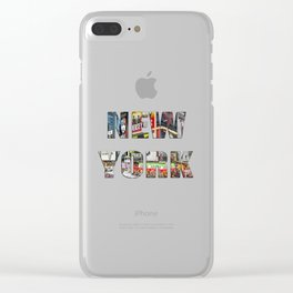 New York (typography) Clear iPhone Case