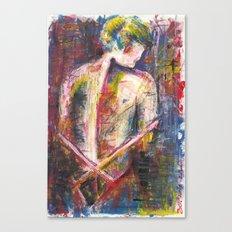 Woman Back Canvas Print