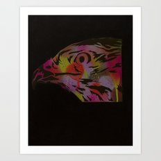 Neon Hawk 1 of 2 Art Print