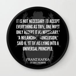 66 |  Franz Kafka Quotes | 190517 Wall Clock