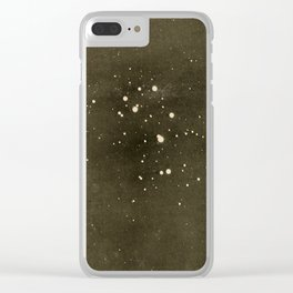 A Beginner's Star-Book (1912) - Largest stars in the Pleiades Cluster Clear iPhone Case