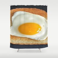 breakfast Shower Curtains featuring Breakfast by Asano Kitamura