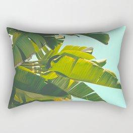 Banana Leaves II (Turquoise) Rectangular Pillow