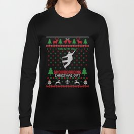 Ugly Snowboarder Christmas Gift Long Sleeve T-shirt