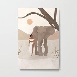 Spirit Animal – Elephant Metal Print