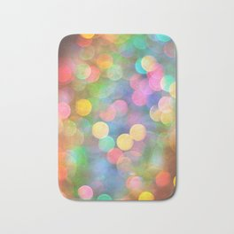 Rainbow Bokeh I Bath Mat
