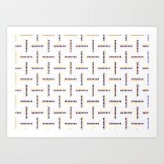 Berry Maze Art Print