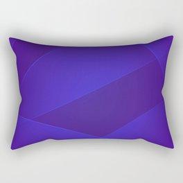 Blue Gem, Daisy Bush & Persian Indigo Colors Rectangular Pillow