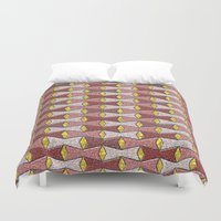 bows Duvet Covers featuring Bows by Warwick Wonder Works