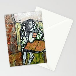 Seclusion - Mixed Media Pebeo Abstract Modern Art, 2015 Stationery Cards