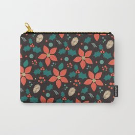 Deck the Halls (Black Background) Carry-All Pouch