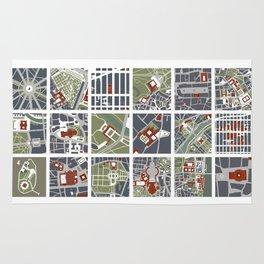 Urban fragments I of NewYork, Paris, London, Berlin, Rome and Seville Rug