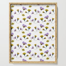 Pressed flowers Serving Tray