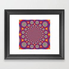 BBQSHOES: Wheels Of Time II Fractal Mandala Framed Art Print