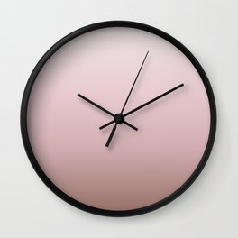 Dusky Pink Gradient Wall Clock