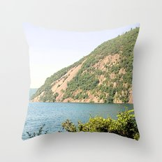 Roger's Rock on Lake George Throw Pillow