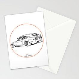 Crazy Car Art 0225 Stationery Cards