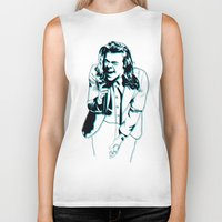 harry styles Biker Tanks featuring Harry Styles  by Ashley McKinney