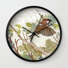 Flying away Wall Clock
