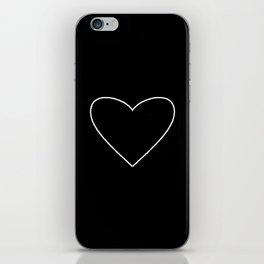 Black Heart iPhone Skin