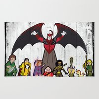 dungeons and dragons Area & Throw Rugs featuring DUNGEONS & DRAGONS by Zorio